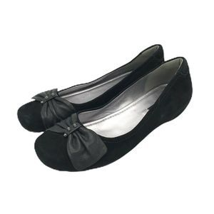 ECCO Shoes - Ecco Suede Flats Studded Bow 37  Leather Black Bow